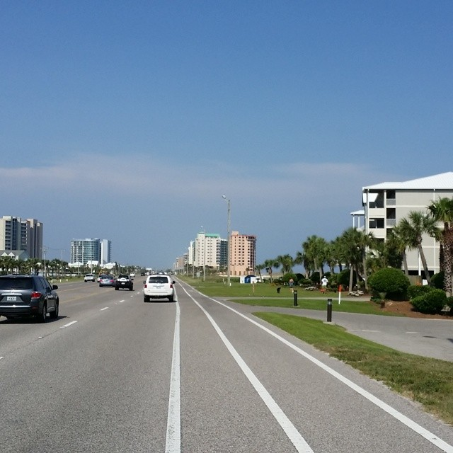 When traveling east on Perdido Beach Blvd in Orange Beach you will see Regency Isle right after you come over the bridge. Regency Isle is the one on the right with the green roof. OrangeBeachCondo OrangeBeach RegencyIsle