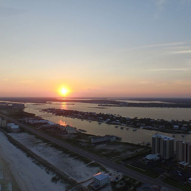 Perdido Key Alabama: Sunset At Orange Beach, Alabama