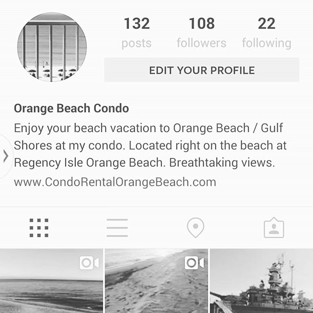Stoked! Somebody just called to Okay and said they found our condo on instagram. Makes it all worth while! OrangeBeachCondo orangebeach