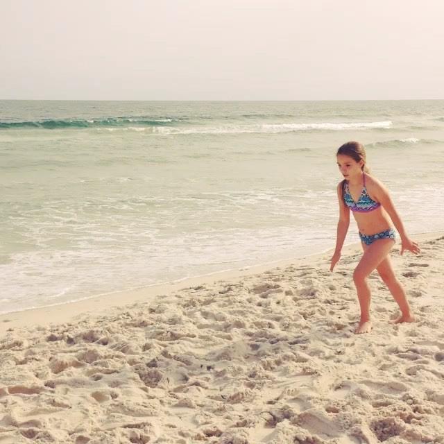 Turning flips in the sand at the Orange Beach condo. #OrangeBeachCondo