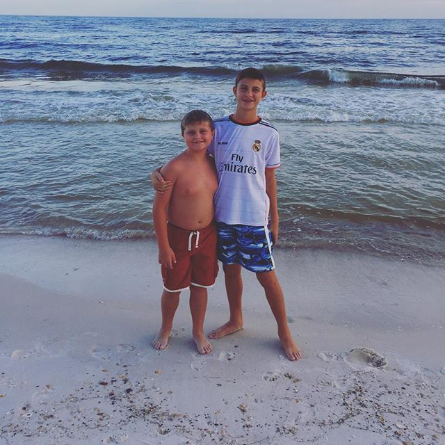 Soaking up the sun and riding the waves is what best friends do best together. #orangebeach #catchingsomerays #ridethewave #vacation