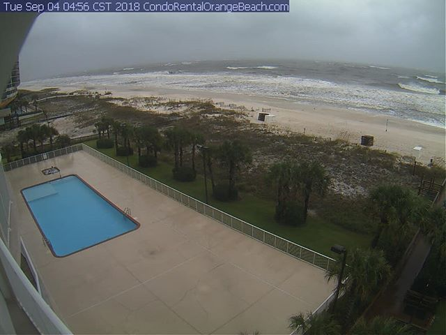 Live view of Tropical storm Gordon bearing down on Regency Isle condominium  #regencyisle #orangebeach #gulfshores #orangebeachcondo #tropicalstorm #hurricane