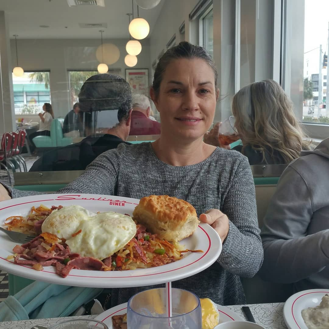 Can't beat breakfast at the diner in Gulf Shores.  It has a 1950s setting with decor and cars parked outside from that time period.  They even have copies of the newspaper from back then.  Makes me want to go back and life during that time.  CondoRentalOrangeBeach.com  #orangebeach #gulfshores #diner #orangebeachcondo