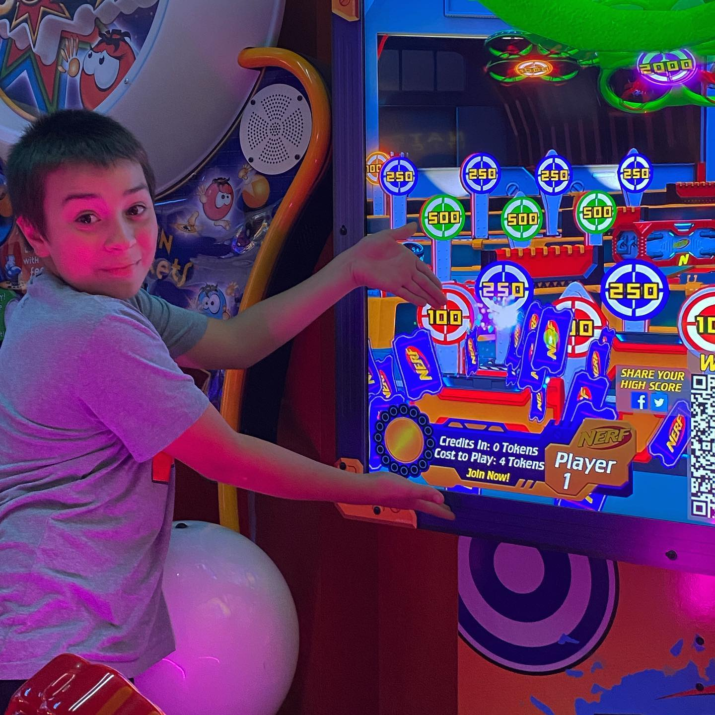 Play the arcade games down at the Wharf- this is always a good family night fun activity - especially when they win big -have fun! #familyfunnight #funatthewharf #arcadegames