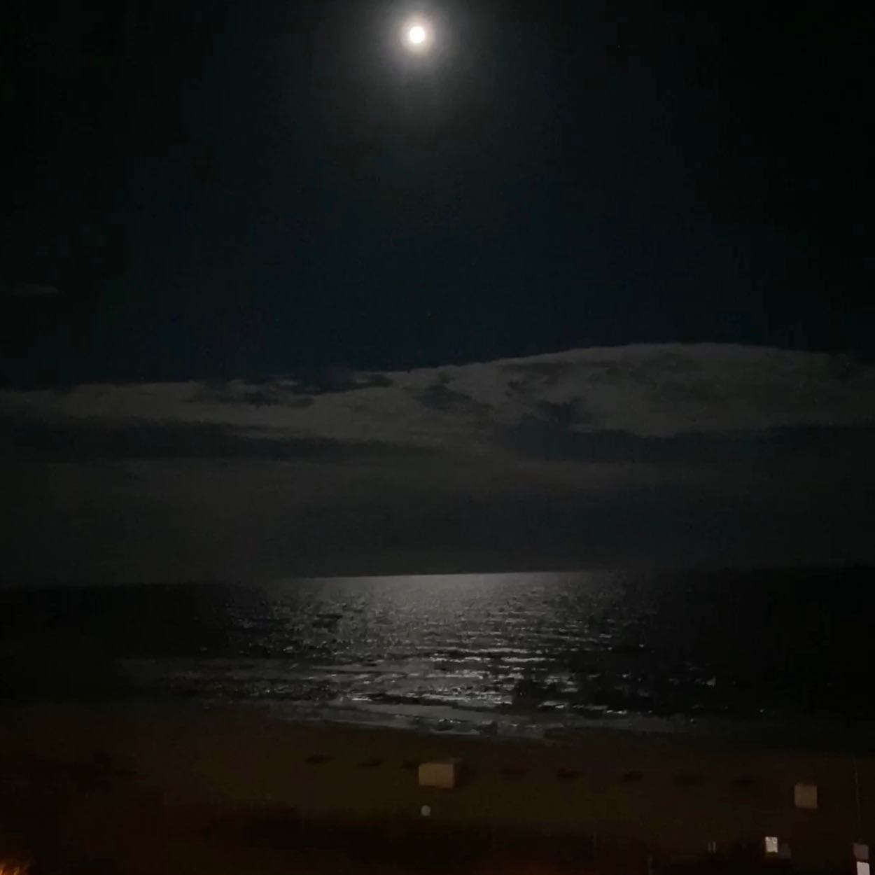 Full moon over the ocean- thunder storm at the beach is so beautiful to watch on the front porch. Come see the view yourself!! #beachtrips #familyvacations #summerstorms #fullmoonatbeach
