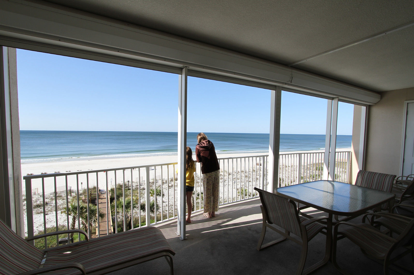 orange beach condo view from balcony