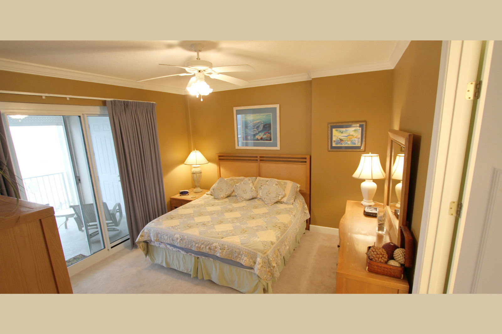 Master bedroom at our Regency Isle Condo